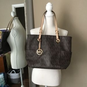 Michael Kors Monogram Shoulder Bag
